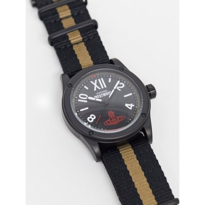 Vivienne Westwood – Dalston – Armbanduhr mit Streifen-Schwarz