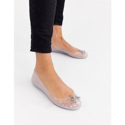 Vivienne Westwood – For Melissa – Flache, transparente Schuhe mit Logo-Löschen
