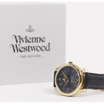 Vivienne Westwood – Holborn II – Lederarmbanduhr  VV185GDBK-Schwarz