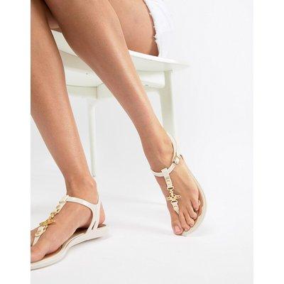 Vivienne Westwood – Solar Orb – Sandalen mit Zehensteg-Cremeweiß
