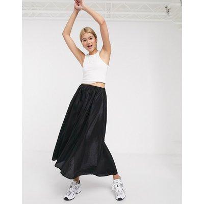 Weekday Danica maxi skirt in black