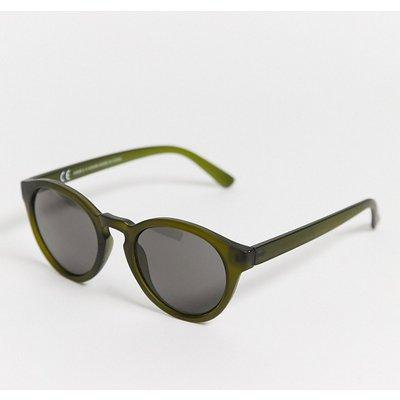 Weekday – Trek – Runde Sonnenbrille in Grün