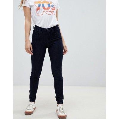 Wrangler – Enge Jeans mit hoher Taille-Blau