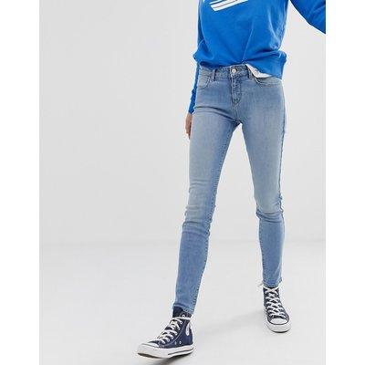 Wrangler – Enge Jeans mit mittelhoher Taille-Blau