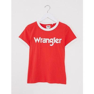 Wrangler – F/S – Ringer-T-Shirt in Bittersweet-Rot