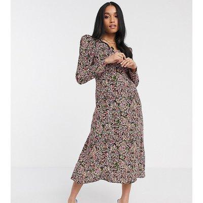 Y.A.S Petite midi tea dress in floral print-Multi