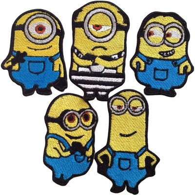 Minions Embroidered Patches Iron Sew On Bag Jeans Cartoon Jacket Badge Applique