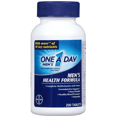 One-A-Day Multivitamin Men's Health Formula 200 Tablet  Bottle