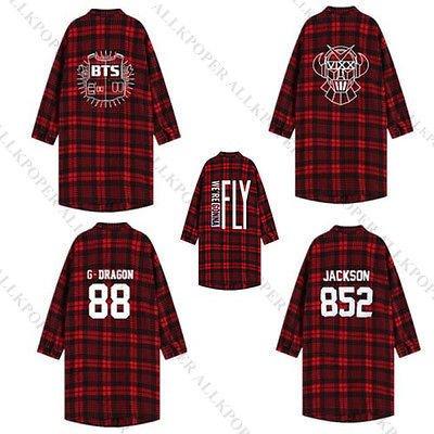 KPOP BTS Shirt Bangtan Boys Vixx GOT7 Bigbang G-Dragon Three-Quarter Sleeve Coat