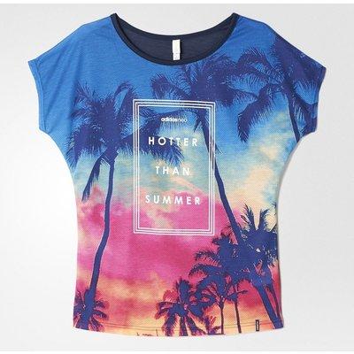 New 2017 Adidas Neo Originals Printed Mesh Tees Multicolor Summer Tshirt AJ8593