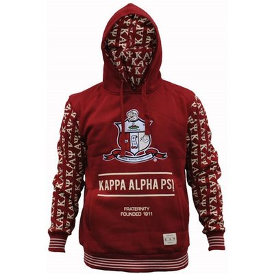 Kappa Alpha Psi Fraternity Men's New Style Hoodie Large Crimson Red