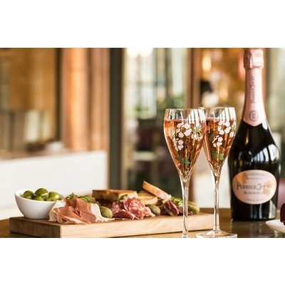 Sharing Platter and a Glass of Champagne at Harrods Perrier-Jouet Champagne Terrace for Two