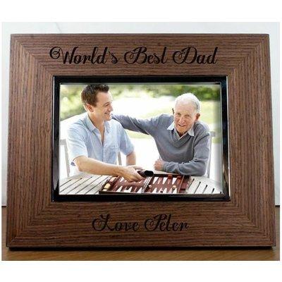 World's Best Dad Engraved Walnut Frame