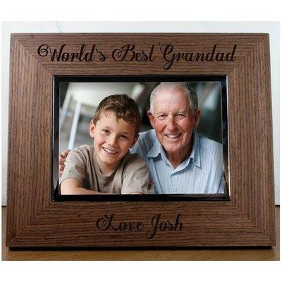 World's Best Grandad Engraved Walnut Frame
