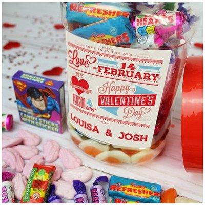 Be My Valentine Personalised Sweet Jar