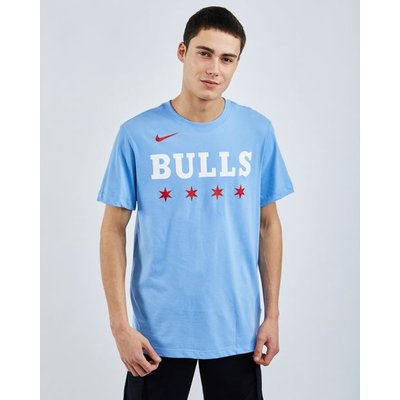 Nike Nba Chicago Bulls City Edition Logo Dri-fit - T-Shirts