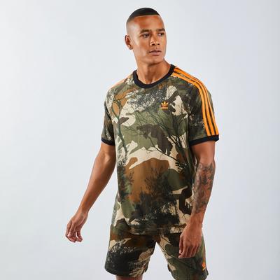adidas All Over Print Camo 3 Stripe - T-Shirts   ADIDAS SALE