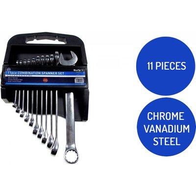 11-Piece Vanadium Steel Spanner Set