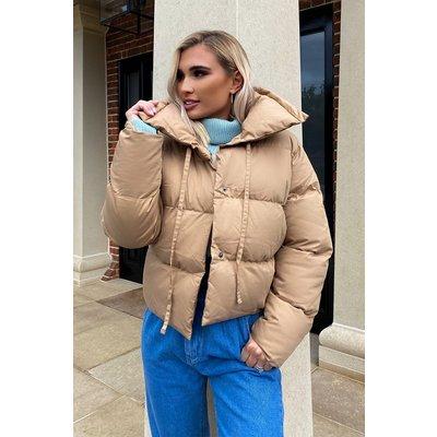 Camel Jackets - Billie Faiers Camel Puffer Jacket