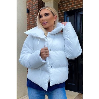 White Jackets - Billie Faiers Off White Puffer Jacket