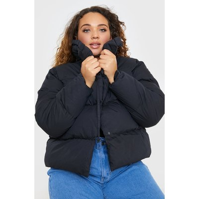 Black Jackets - Plus Size Billie Faiers Black Puffer Jacket