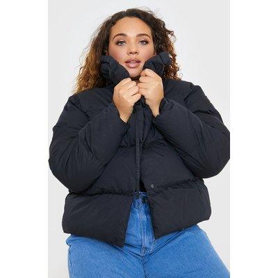 Black Jackets - Plus Size Billie Faiers Black Puffer Jacket