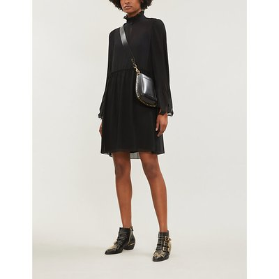 See By Chloe Black High Neck Crepe Dress