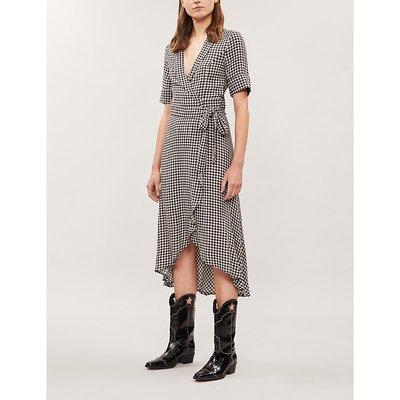 Ganni Gingham Woven Midi Dress