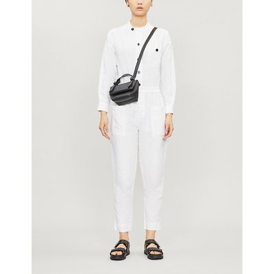 Painter buttoned-down linen-blend jumpsuit