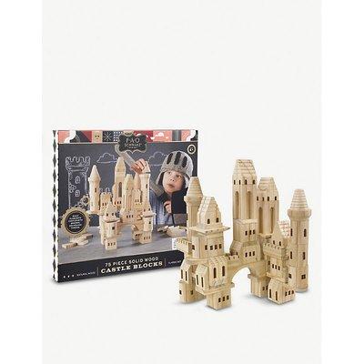 Wooden building blocks Castle 75-piece set