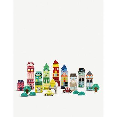Wooden building blocks Town 50-piece set