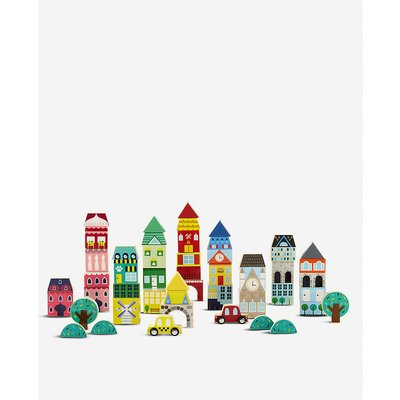 Wooden building blocks Town 50-piece set