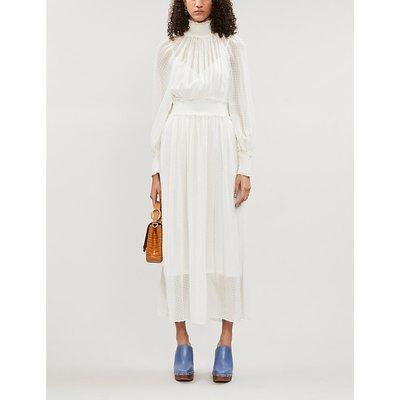 Super Eight high-neck silk-blend midi dress