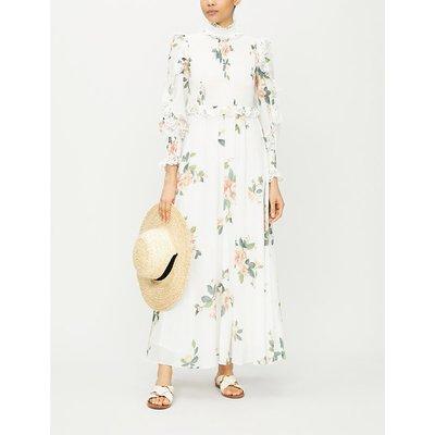 Kirra floral-print cotton-voile midi dress