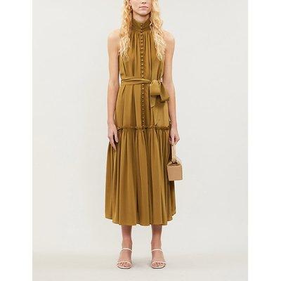 Super Eight leopard-print sleeveless silk-crepe midi dress