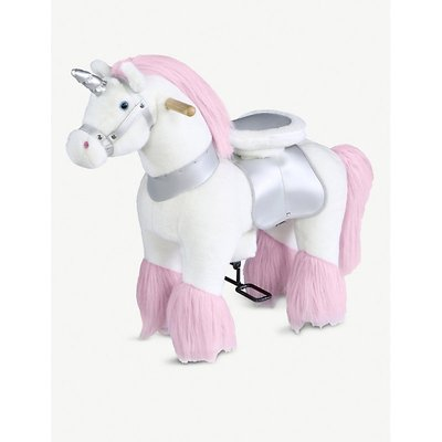 Ride-on unicorn soft toy 63.5cm x 27.9cm