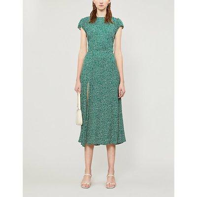 Reformation Gavin Floral-Print Crepe Midi Dress