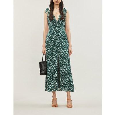 Harper floral-print crepe midi dress