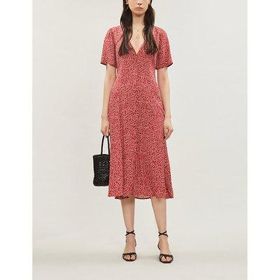 Reformation Locklin Floral-Print Crepe Midi Dress