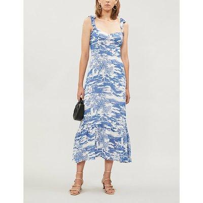 Nikita floral-pattern crepe midi dress