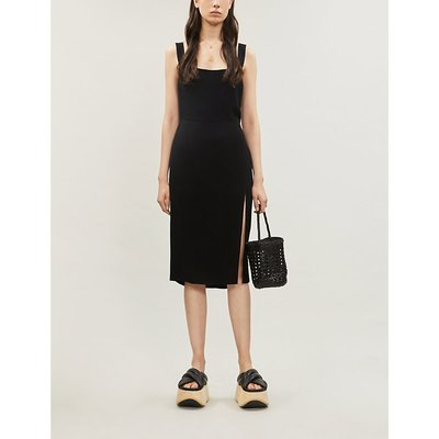 Reformation Christina Crepe Midi Dress