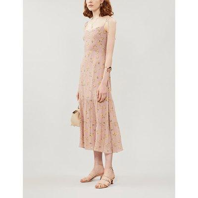 Reformation Emmie Floral-Print Crepe Midi Dress