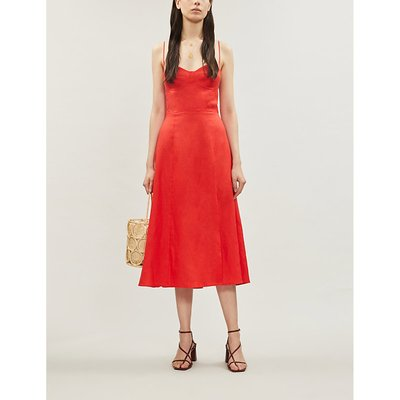 Nebraska A-line linen midi dress