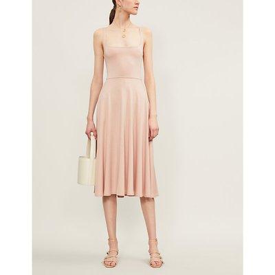 Reformation Mary Sleeveless Jersey Midi Dress