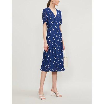 Reformation Napa Floral-Print Crepe Midi Dress