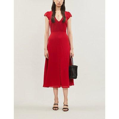 Wellfleet V-neck crepe midi dress