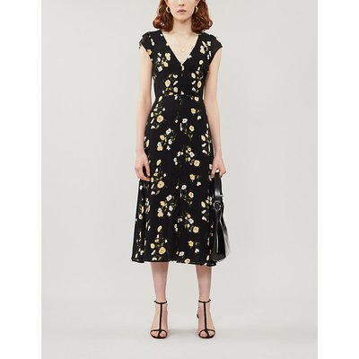 Wellfleet floral-print crepe midi dress