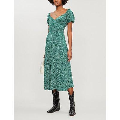Reformation Pearl Floral-Print Crepe Midi Dress