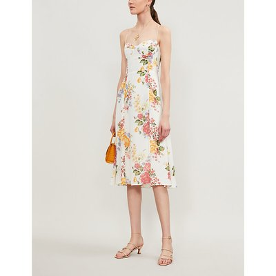 Juliette floral-print crepe midi dress