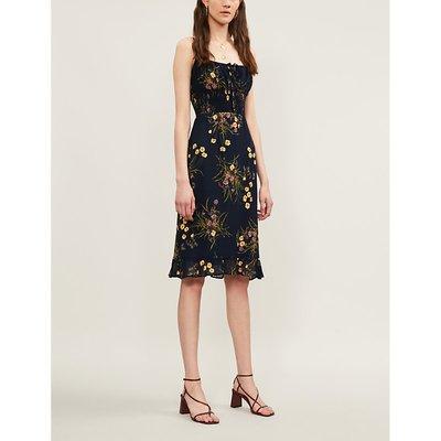Genie floral-print crepe dress